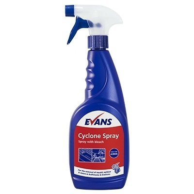 EVANS CYCLONE, trigger spray with bleach x 750ml