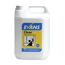 CLEAR, window & glass cleaner - Evans x 5Lt