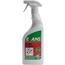 FRESH ODOUR NEUTRALISER TRIGGER, Evans Liquid Air Freshener x 750ml