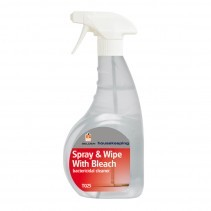 T025 SPRAY & WIPE with BLEACH TRIGGER, Selden Bactericidal Cleaner x 750ml