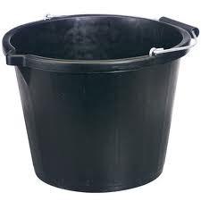 BLACK BUCKET, 3 gallon