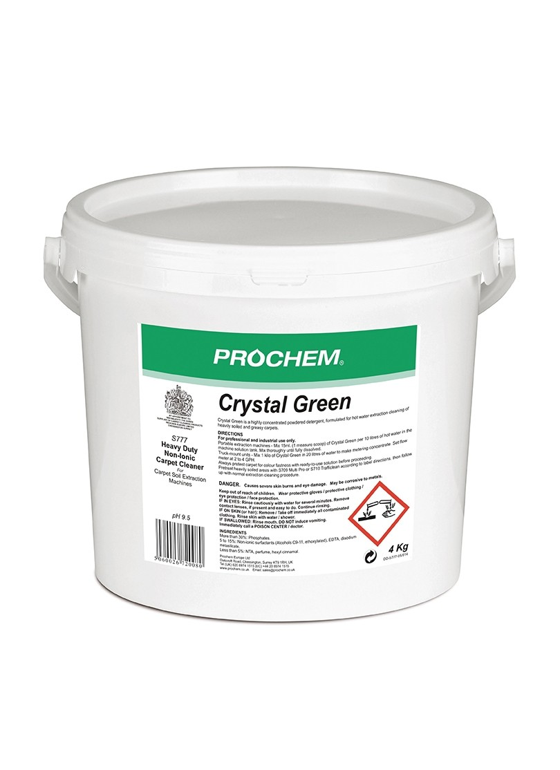 CRYSTAL GREEN - Prochem extraction powdered detergent 4Kg