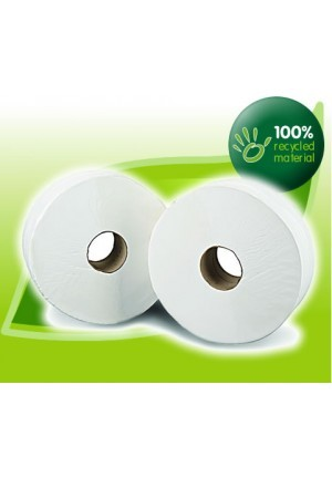 "MINI JUMBO TOILET ROLL - 2.1/4"" CORE x 12"