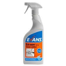 EST-EEM TRIGGER, Evans Unperfumed Cleaner Sanitiser x 750ml
