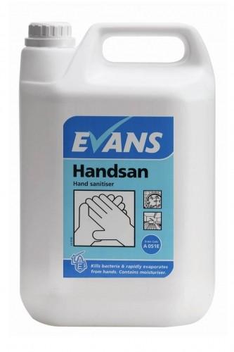 EVANS HANDSAN, hand sanitiser 5Lt
