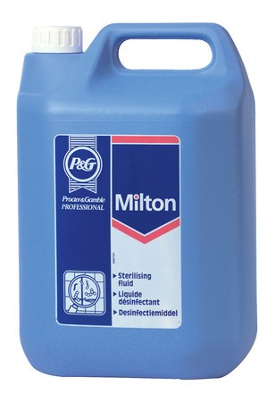MILTON DISINFECTING FLUID, Sanitiser by Proctor & Gamble x 5Lt