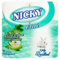 NICKY ELITE TOILET ROLLS, conventional 3ply x 45 rolls