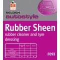 F093 RUBBER SHEEN,rubber cleaner & tyre dressing - Selden x 5Lt